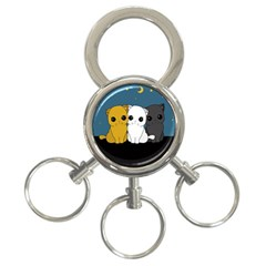 Cute Cats 3 Ring Key Chains
