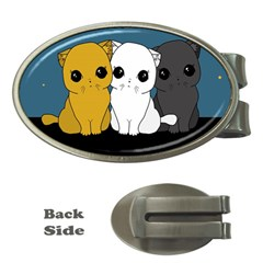 Cute Cats Money Clips (oval)