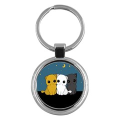 Cute Cats Key Chains (round)