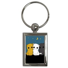 Cute Cats Key Chains (rectangle)