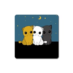 Cute Cats Square Magnet