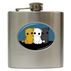 Cute Cats Hip Flask (6 Oz)