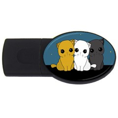 Cute Cats Usb Flash Drive Oval (2 Gb)