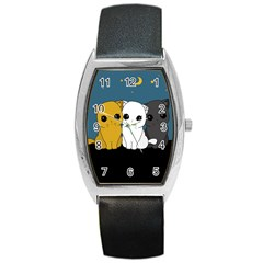 Cute Cats Barrel Style Metal Watch