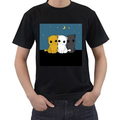 Cute Cats Men s T Shirt (black) (two Sided)