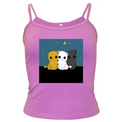 Cute Cats Dark Spaghetti Tank