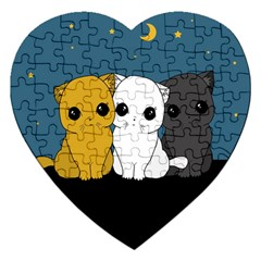 Cute Cats Jigsaw Puzzle (heart)