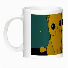 Cute Cats Night Luminous Mugs