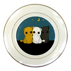 Cute Cats Porcelain Plates