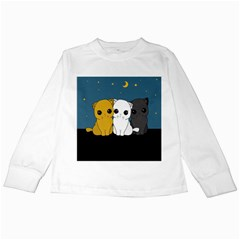 Cute Cats Kids Long Sleeve T Shirts