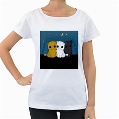 Cute Cats Women s Loose Fit T Shirt (white)