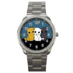 Cute Cats Sport Metal Watch