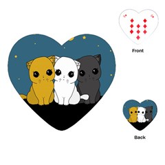 Cute Cats Playing Cards (heart)
