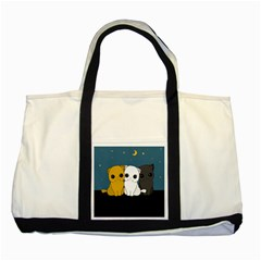 Cute Cats Two Tone Tote Bag