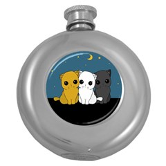 Cute Cats Round Hip Flask (5 Oz)