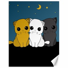 Cute Cats Canvas 12  X 16