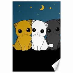 Cute Cats Canvas 12  X 18