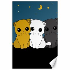 Cute Cats Canvas 24  X 36