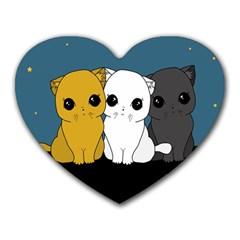 Cute Cats Heart Mousepads