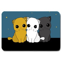 Cute Cats Large Doormat