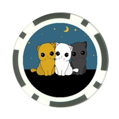 Cute Cats Poker Chip Card Guard