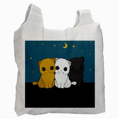 Cute Cats Recycle Bag (one Side)