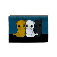 Cute Cats Cosmetic Bag (medium)