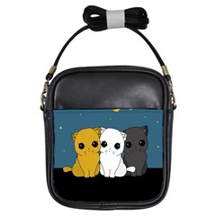 Cute Cats Girls Sling Bags