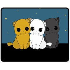 Cute Cats Fleece Blanket (medium)