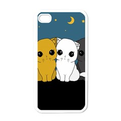 Cute Cats Apple Iphone 4 Case (white)