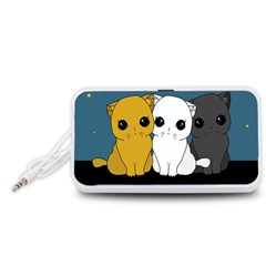 Cute Cats Portable Speaker (white)