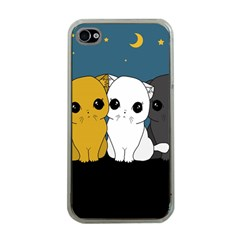 Cute Cats Apple Iphone 4 Case (clear)