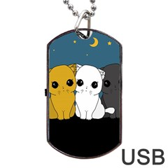 Cute Cats Dog Tag Usb Flash (two Sides)