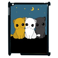 Cute Cats Apple Ipad 2 Case (black)