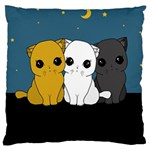 Cute cats Large Cushion Case (One Side) Front