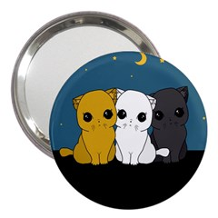 Cute Cats 3  Handbag Mirrors