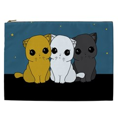 Cute Cats Cosmetic Bag (xxl)