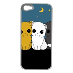 Cute Cats Apple Iphone 5 Case (silver)