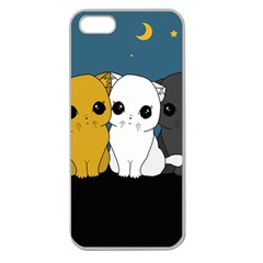 Cute Cats Apple Seamless Iphone 5 Case (clear)
