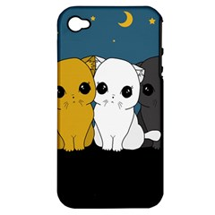 Cute Cats Apple Iphone 4/4s Hardshell Case (pc+silicone)