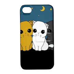 Cute Cats Apple Iphone 4/4s Hardshell Case With Stand