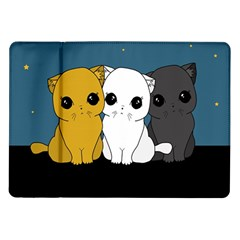 Cute Cats Samsung Galaxy Tab 10 1  P7500 Flip Case