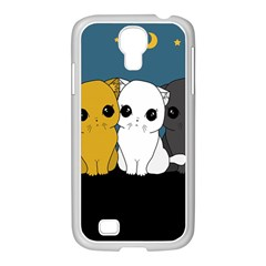 Cute Cats Samsung Galaxy S4 I9500/ I9505 Case (white)