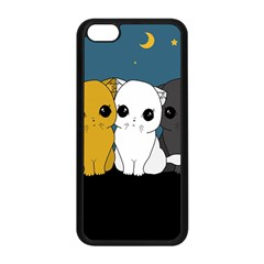 Cute Cats Apple Iphone 5c Seamless Case (black)