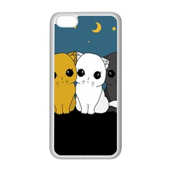 Cute Cats Apple Iphone 5c Seamless Case (white)