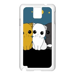 Cute Cats Samsung Galaxy Note 3 N9005 Case (white)