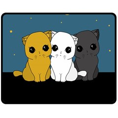 Cute Cats Double Sided Fleece Blanket (medium)