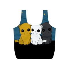 Cute Cats Full Print Recycle Bags (s)