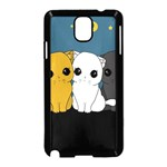 Cute cats Samsung Galaxy Note 3 Neo Hardshell Case (Black) Front