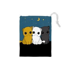 Cute Cats Drawstring Pouches (small)